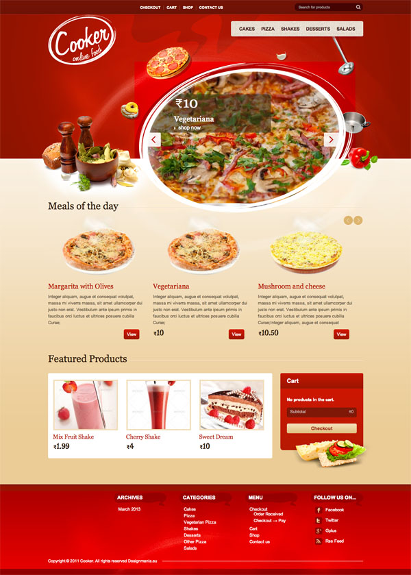 Theme Restaurant Wordpress
