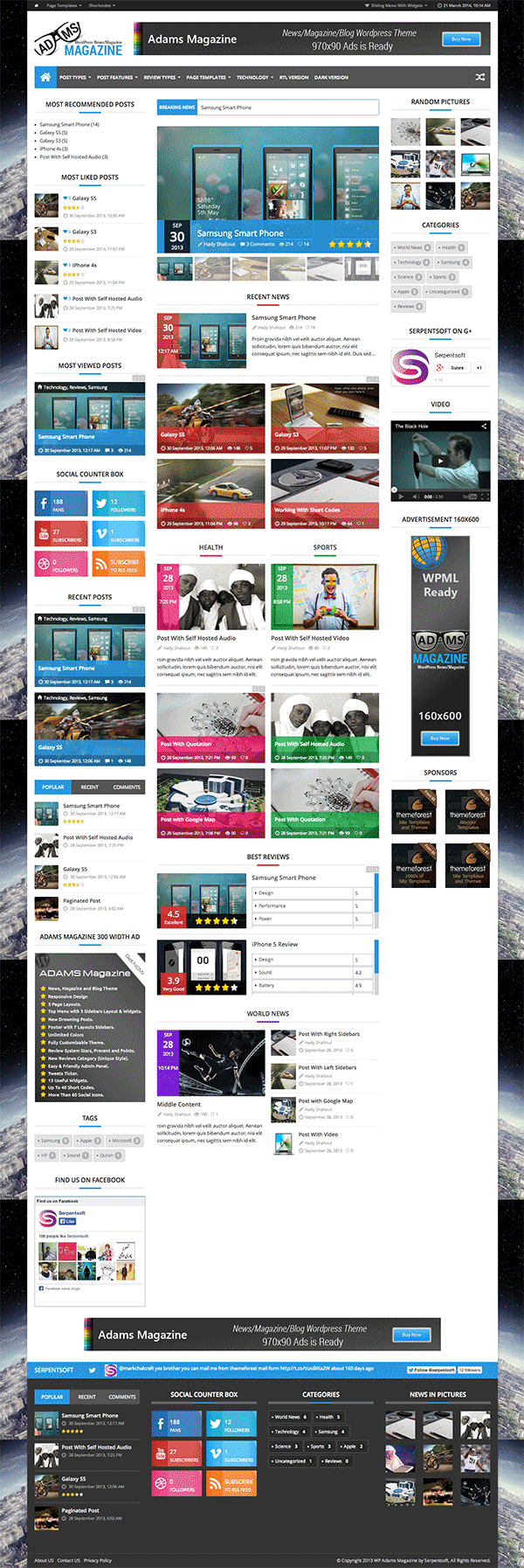 Adams WordPress Theme