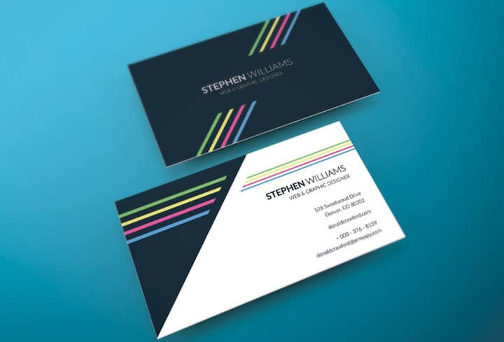 Business Card Template Print