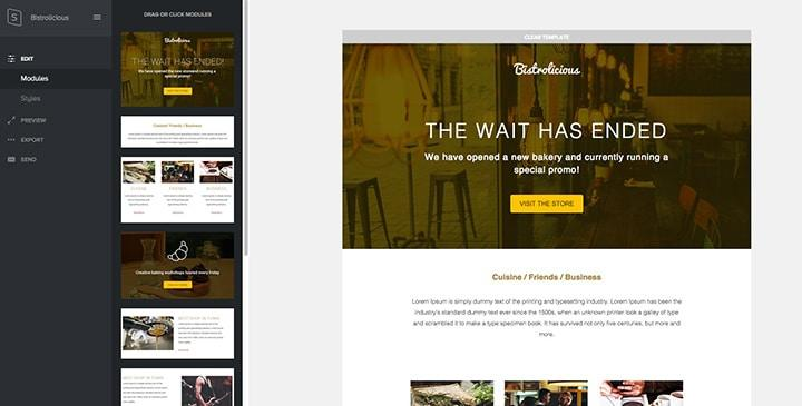 Bistrolicious email template
