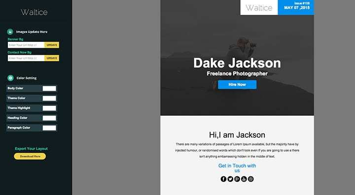 waltice email template