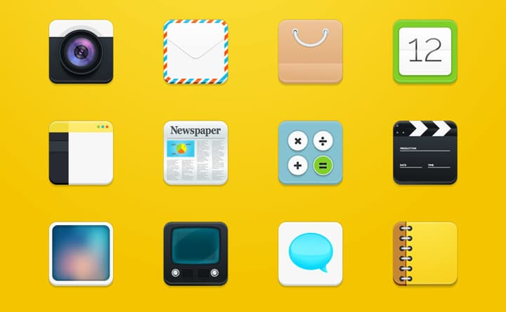 Modern Square Icons