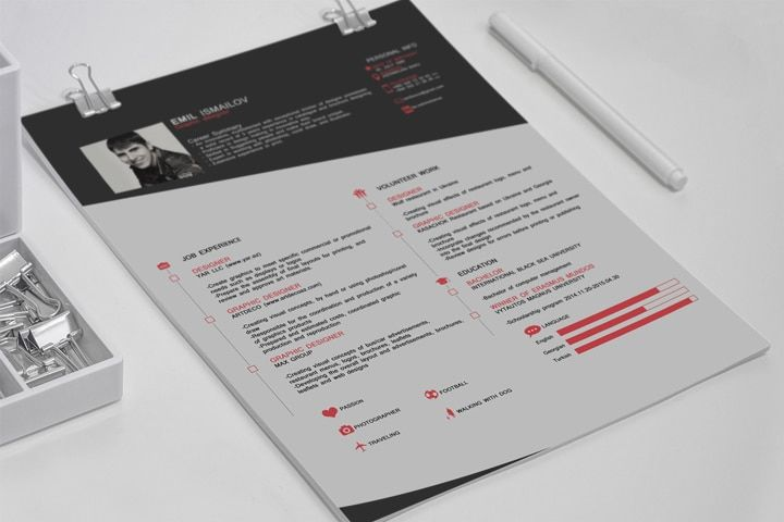 22 templates de cv sur photoshop
