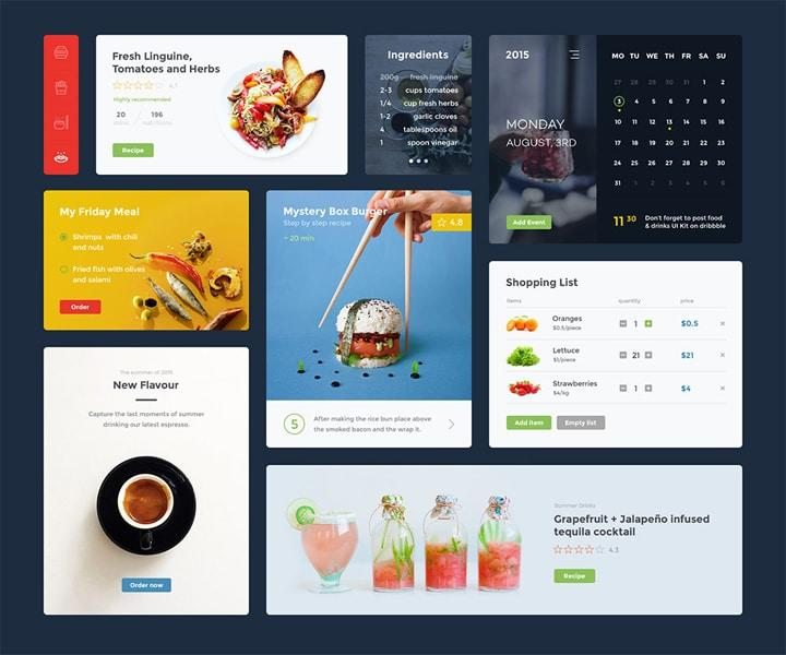 UI kit Restaurant