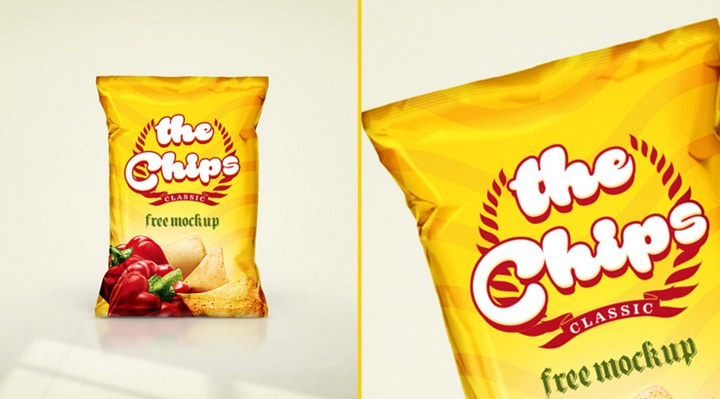 Mockup paquet chips