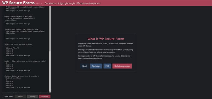 WP Secure Forms