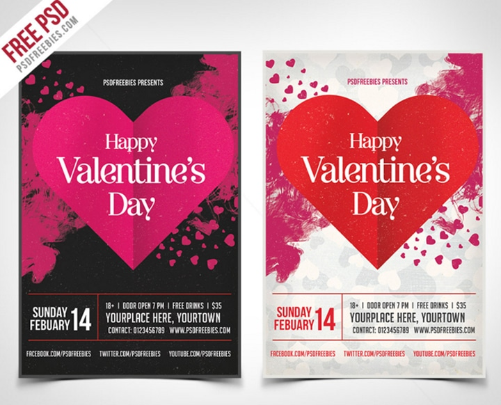 Flyer Saint Valentin