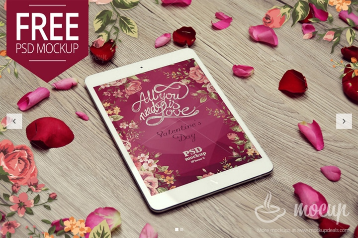 Mockup iPad Mini Saint Valentin