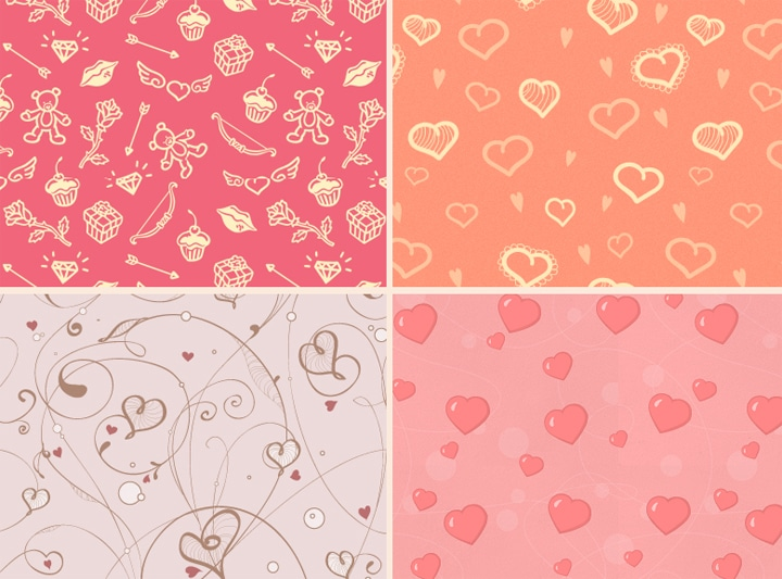 Patterns St Valentin