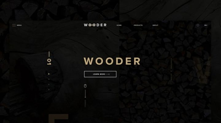 Wooder – Template pour site web