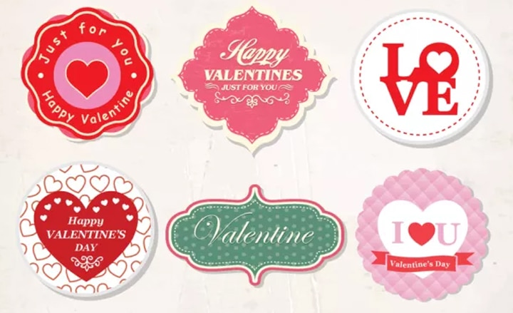 badges St Valentin
