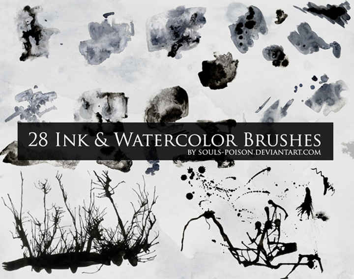 brushes-aquarelle