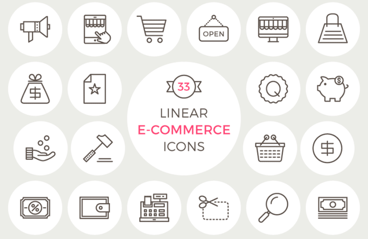 33 Free Linear E Commerce Icons 800x800