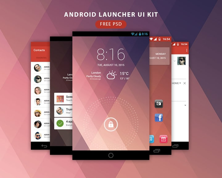 Android-Launcher-UI-Kit-Free-PSD