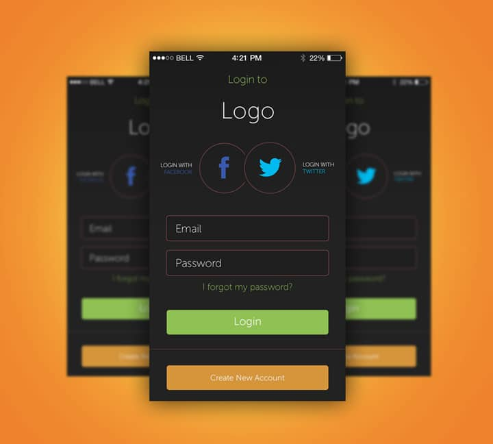 App-Login-Screen-Free-PSD